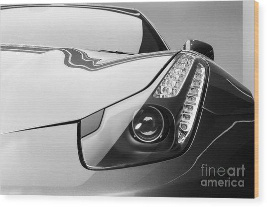 Ferrari Headlight Wood Print