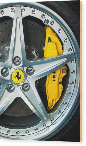 Ferrari Wheel 3 Wood Print