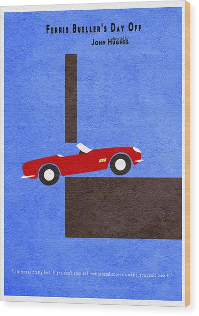 Ferris Bueller's Day Off Wood Print