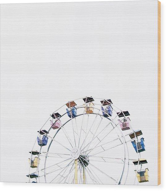 Ferris Wheel Against Clear Sky Wood Print by Avneet Kaur / Eyeem