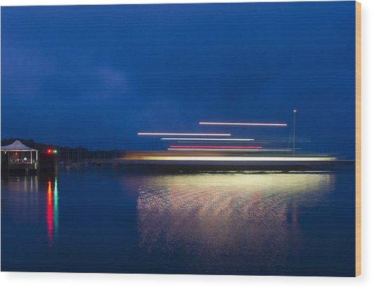 Ferry Light Wood Print