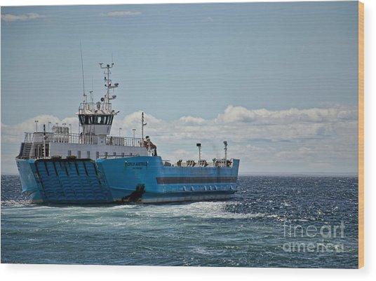 Ferryboat In Chilean Waters Wood Print