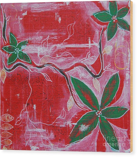 Wood Print featuring the painting Festive Garden 2 by Jocelyn Friis