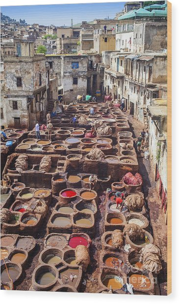 Fez Tannery Wood Print