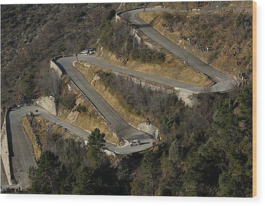 Fia World Rally Championship Monte-carlo -  Day Four Wood Print by Massimo Bettiol