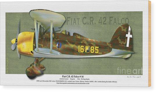 Fiat C.r. 42 Wood Print