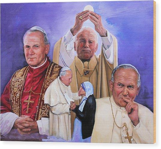 Fides Et Ratio Saint John Paul II Wood Print