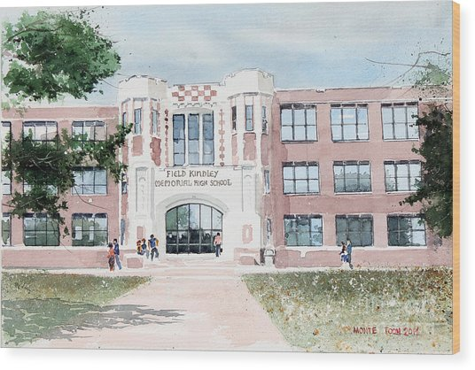 Field Kindley Memorial High School Wood Print