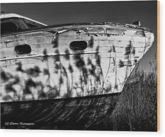 Field Of Boats Wood Print by Glenn Thompson