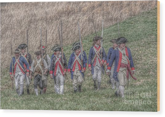 Field Of Honor American Revolution Wood Print