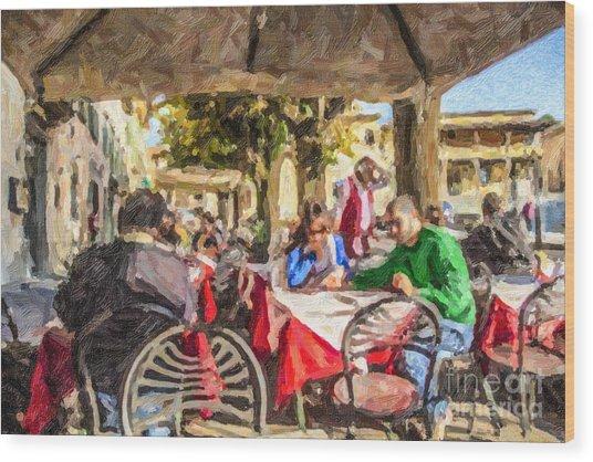 Fiesole Al Fresco Wood Print