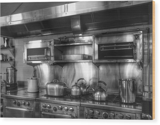 Fifties Kitchen Wood Print by Kathi Isserman