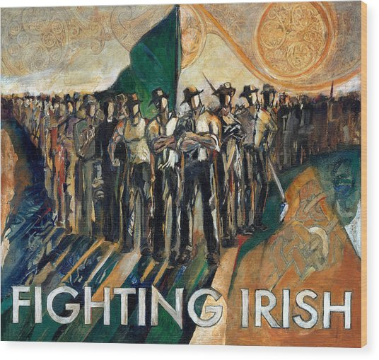Fighting Irish Pride And Courage Wood Print by Revere La Noue