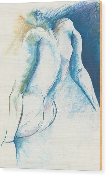 Figurative Abstract Wood Print