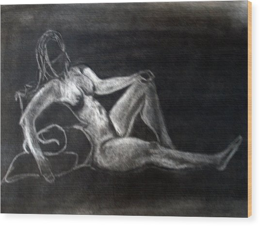 Figure Drawing Wood Print by Corina Bishop