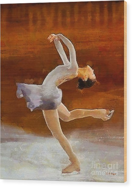 Figure Skating Wood Print