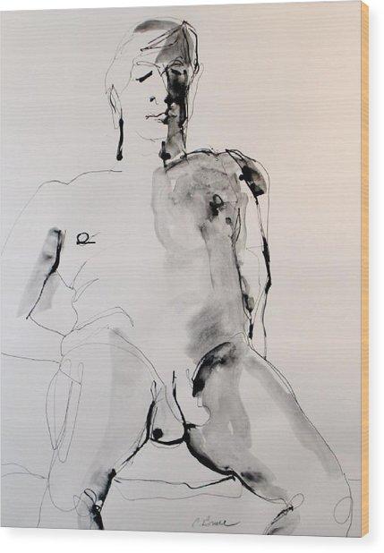 Figure11 Male Nude Study Wood Print by Craig  Bruce
