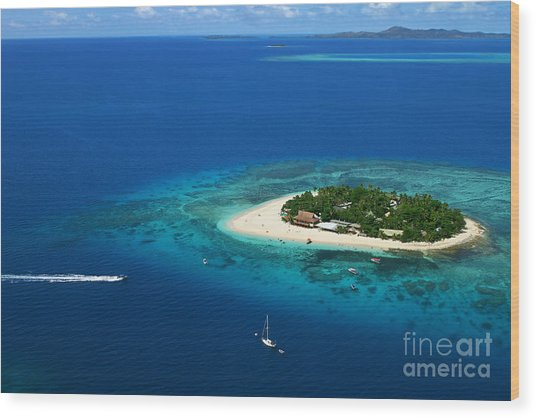 Fiji - South Pacific Paradise Wood Print by Lars Ruecker