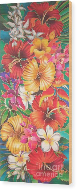 Fiji Flowers IIi Wood Print