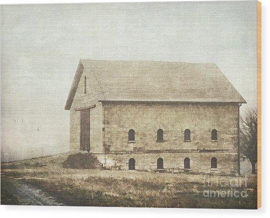 Filley Stone Barn Wood Print
