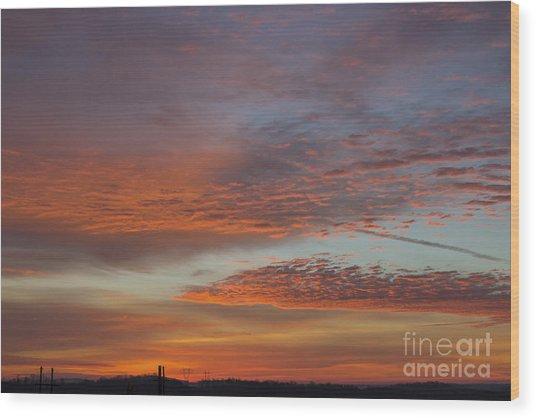 Final 2012 Sunrise Wood Print