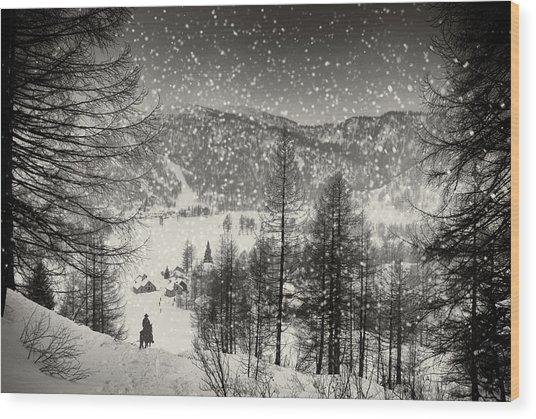 Finally At Home Wood Print by Vito Guarino
