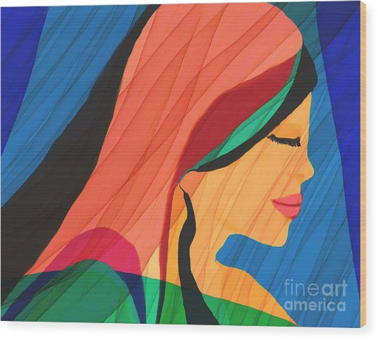 Finding Yourself Wood Print by Hilda Lechuga