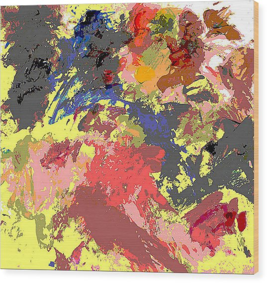 Fine Art Digital Palette 0848b Wood Print