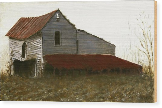 Fine Art Oil Painting North Carolina Barn Wood Print