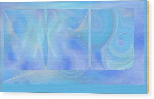 Fine Art Original Digital Abstract Untitled1bb4 As Blue Wood Print