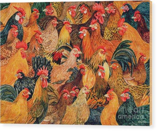 Fine Fowl Wood Print