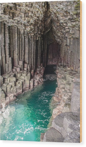 Fingal's Cave Wood Print