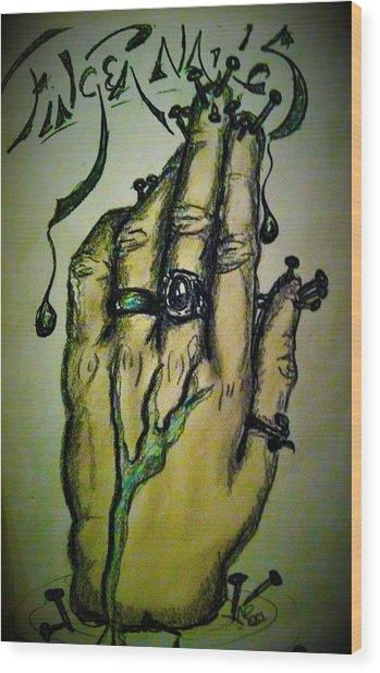 Fingernails Wood Print