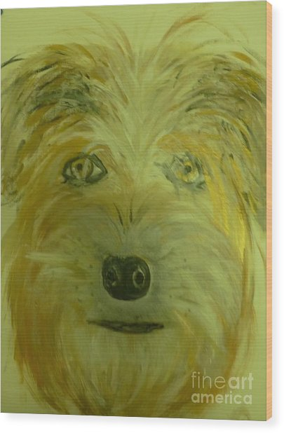 Finigan II Wood Print by Marie Bulger