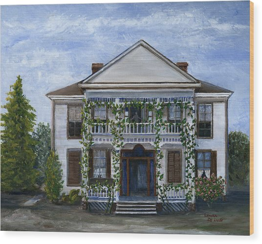 Finn Hotel Pleasant Hill Louisiana Wood Print