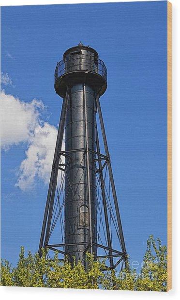 Finns Point Lighthouse Wood Print