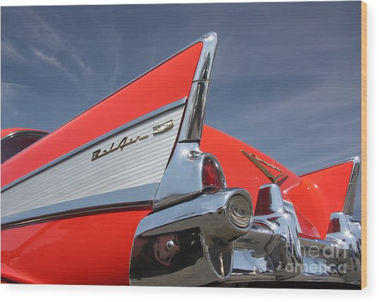 Fintastic '57 Chevy Wood Print