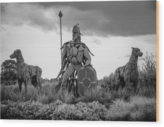 Fionn Mac Cumhaill And His Hounds Wood Print