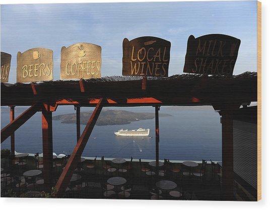 Fira Santorini Greece Wood Print