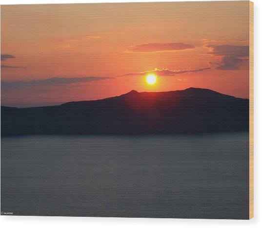 Firastefani Sunset Wood Print
