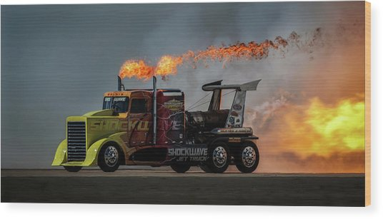 Fire & Speed - Mcas Miramar Air Show Wood Print by David H Yang