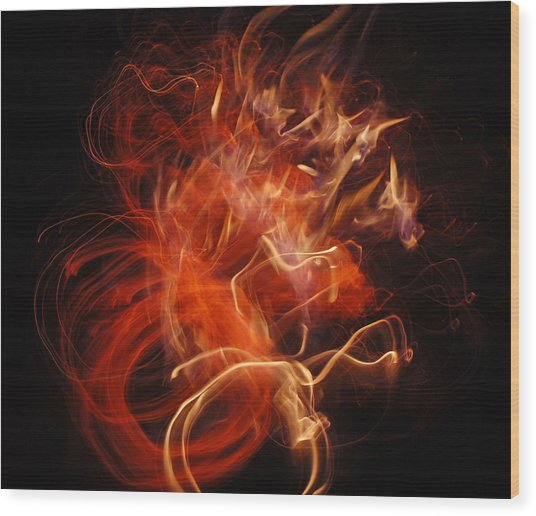 Fire Creature  Wood Print