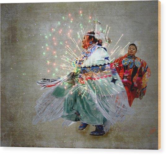 fire Dance Wood Print by Irma BACKELANT GALLERIES