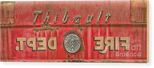 Fire Department Wood Print