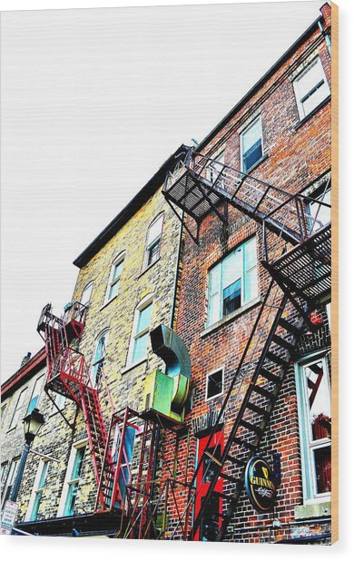 Fire Escape Lattice - Ontario - Canada Wood Print