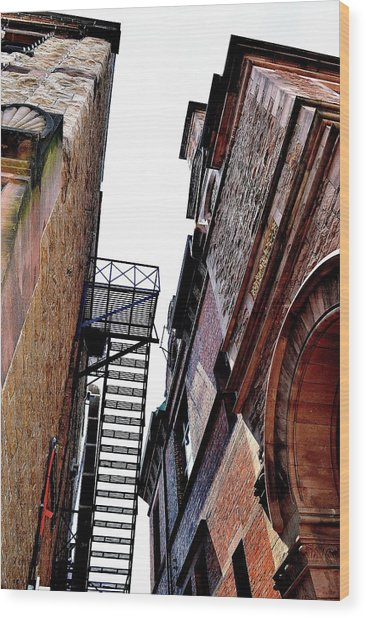 Fire Escape Pompous - Ontario - Canada Wood Print