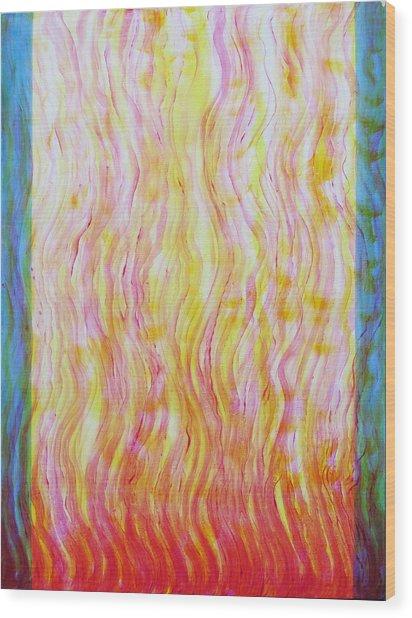 Fire Flow Wood Print by Tom Hefko