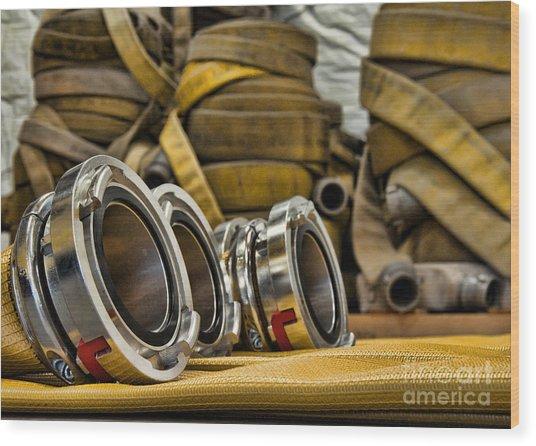 Fire Hoses Wood Print