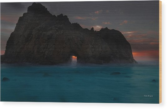 Fire In The Hole.... Big Sur Wood Print