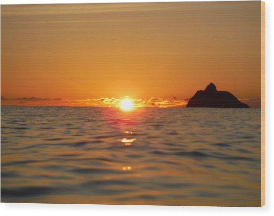 Fire On The Ocean  Wood Print by Bill Reynolds